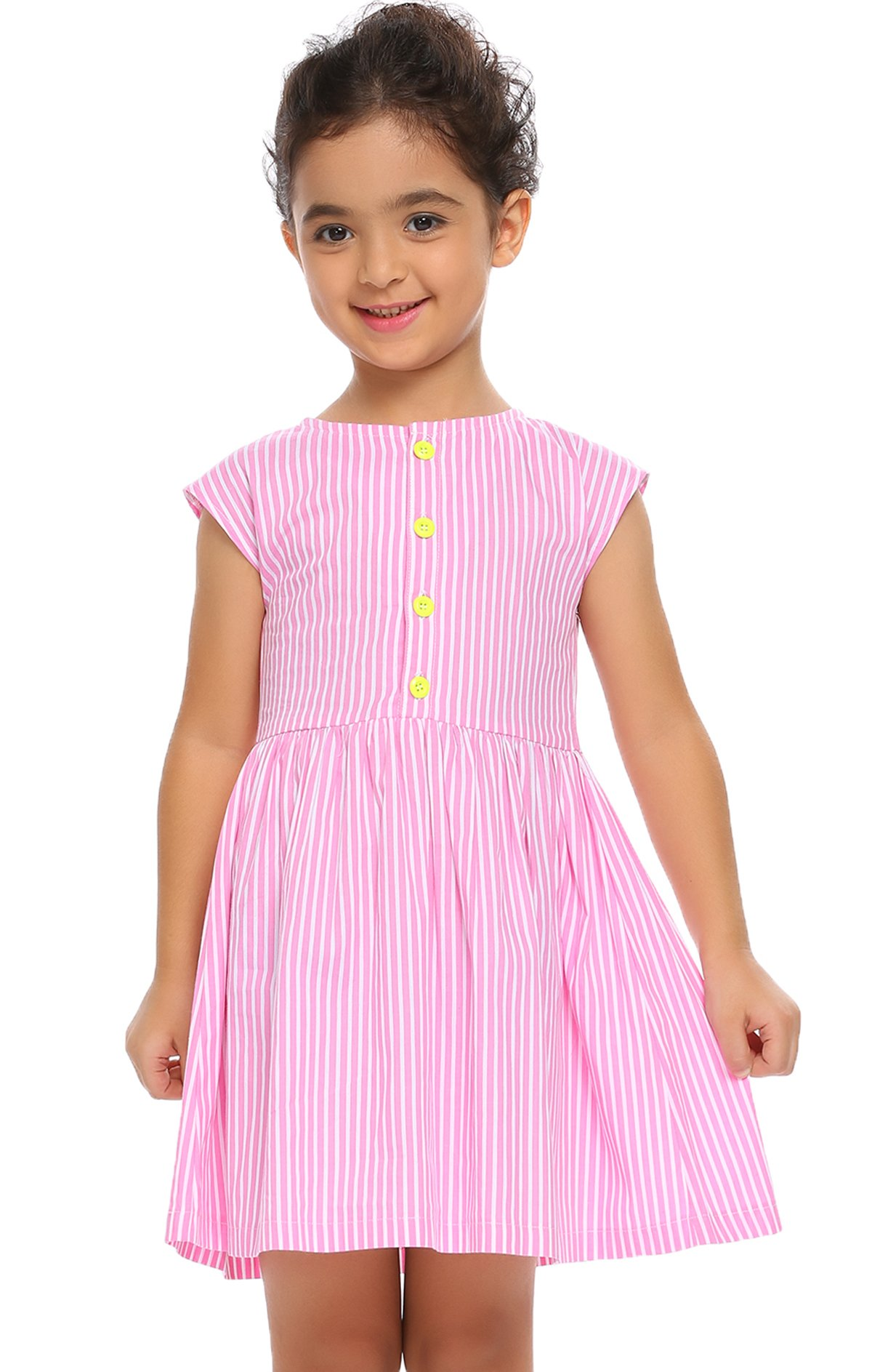 Arshiner Toddlers Little Girls Sleeveless Striped Casual Daily Dress