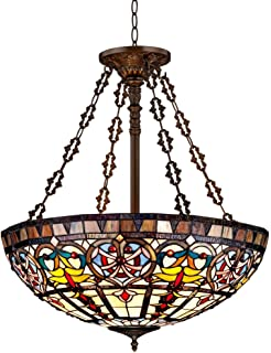 quoizel tf1438vb 3 light tiffany pendant in vintage bronze ceiling