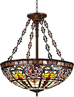 Ornamental Tiffany Style 24  Wide Art Glass Pendant Light  sc 1 st  Amazon.com & Dale Tiffany TH101034 Boehme Pendant Lamp Antique Golden Sand ... azcodes.com