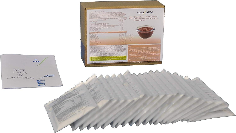 CALYFORM Natillas proteicas para dieta sabor Chocolate | Proteína en polvo para preparar natillas de calidad y aporte en aminoácidos esenciales (20 ...