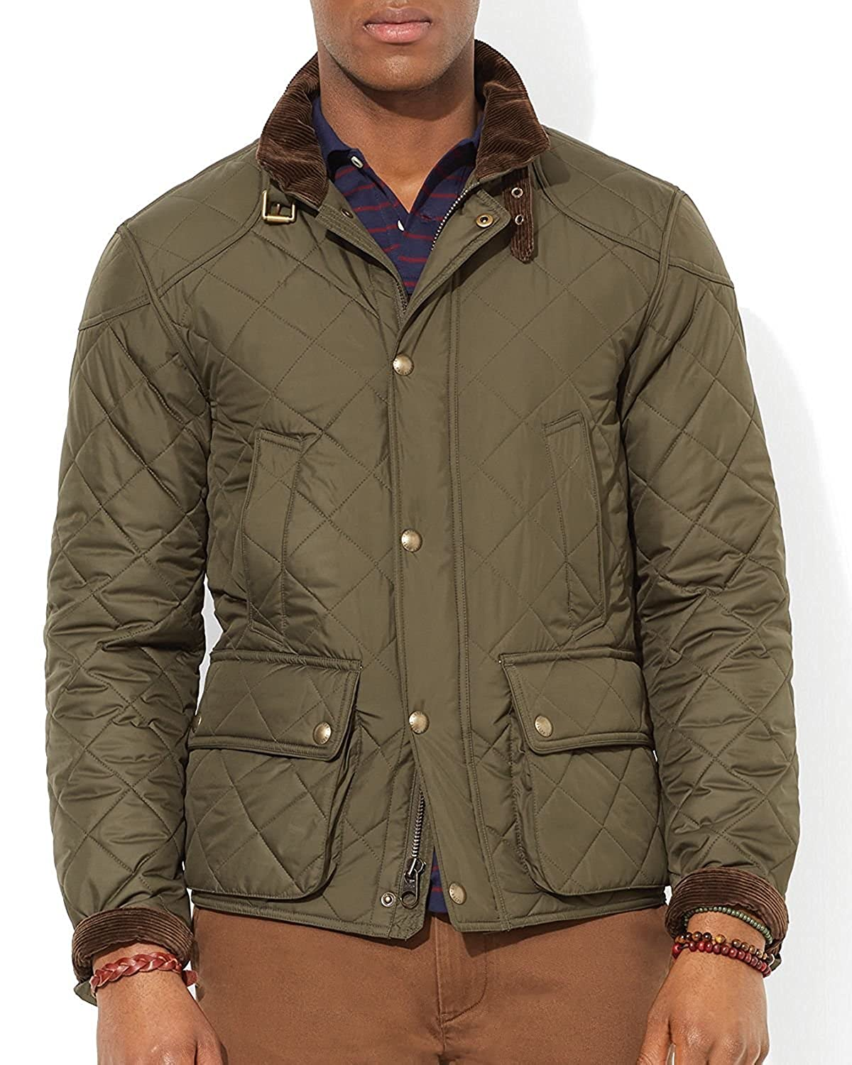 Polo Ralph Lauren Mens Quilted Bomber Jacket M At Amazon Mens