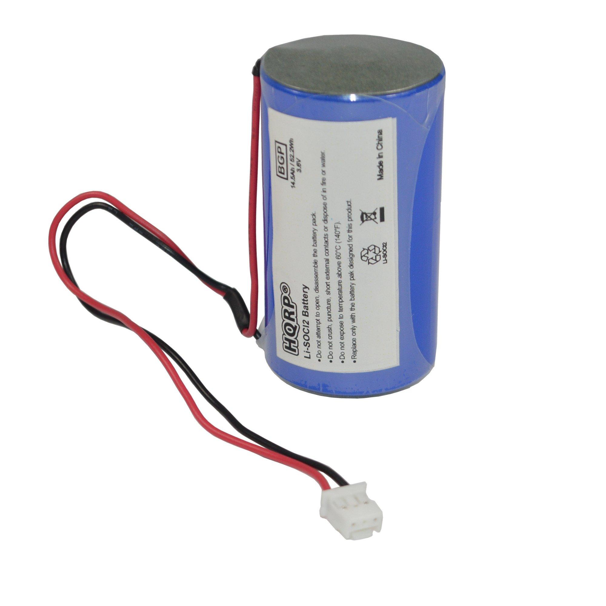 HQRP D-Size 3.6V Lithium Thionyl Chloride Battery Compatible with DSC ER34615M-T1 WT4911 WT4911B WT8911 ALEXOR Wireless Outdoor Siren WT4911BATT ADT by HQRP
