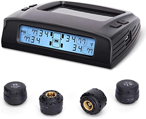 Tire Pressure Monitoring System (Solar Charge, with 4 External TPMS Sensors)[Tymate]   Picture