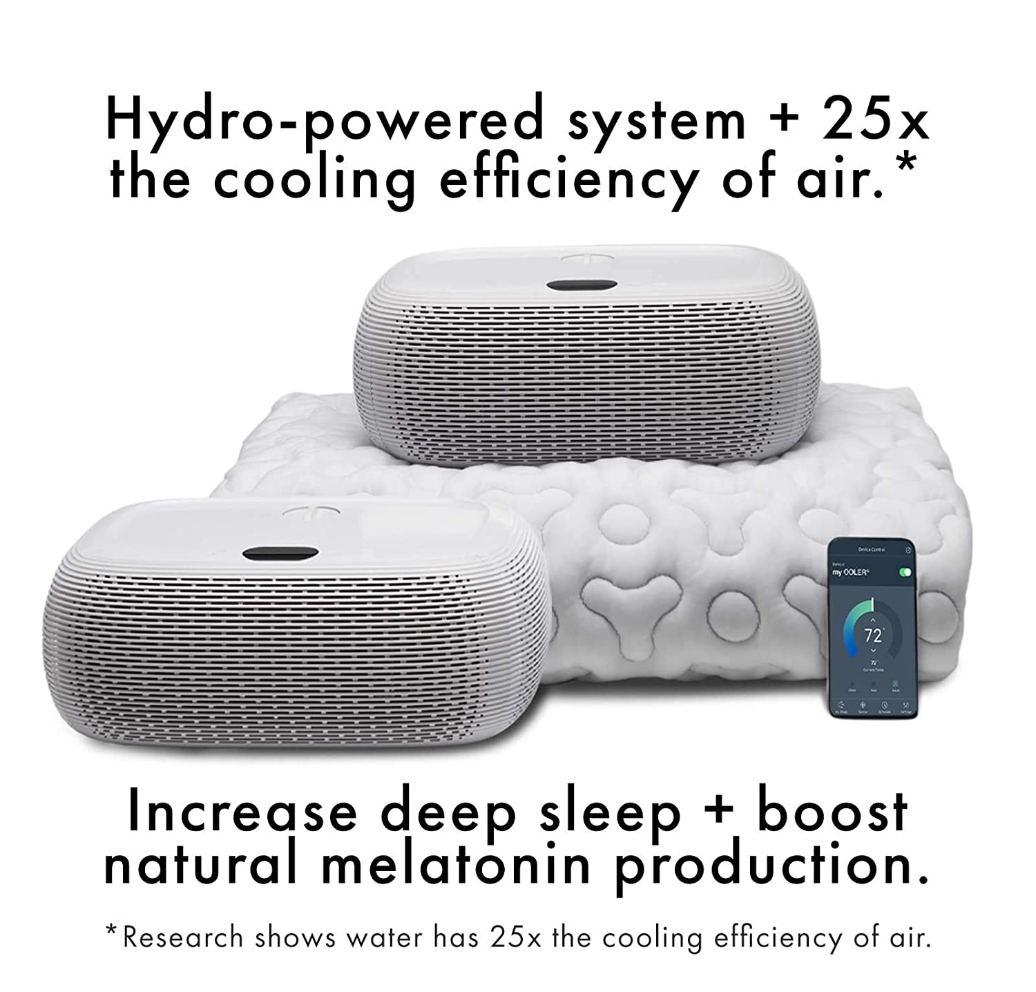 """OOLER Sleep System – ME and WE Zones – Cooling and Heating Mattress Pad – Precise Temperature Control, Perfect Sleep Regulation, App and Sleep Schedule Integration (Queen (80"""" L x 60"""" W))"""