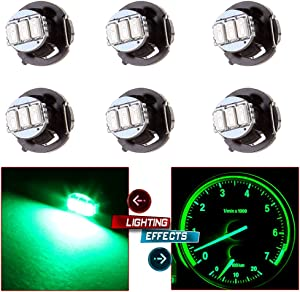 cciyu 6 Pack Green 3-3014SMD T4/T4.2 Neo Wedge HVAC Climate Control LED Light Bulbs Replacement fit for 2002 Jeep