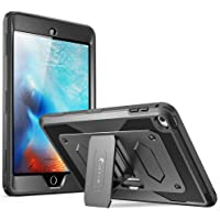 i-Blason Hybrid Full-body Protective Kickstand Case with Front Cover and Built-in Screen Protector for iPad Mini 4 (Black)