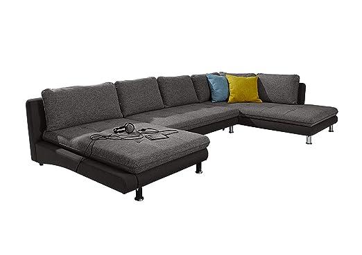 Cavadore Wohnlandschaft Loungines Xxl Couch Mit Bettfunktion Und