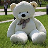 YXCSELL 6 FT 79 Inches White Super Soft Huge Plush Stuffed Animal Toys Giant Life Size Teddy Bear Doll