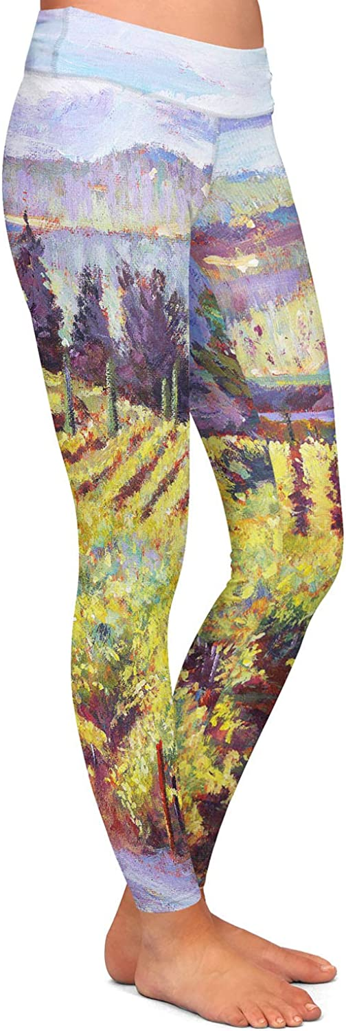 Athletic Yoga Leggings from DiaNoche Designs by David Lloyd Glover Napa Valley Vineyards