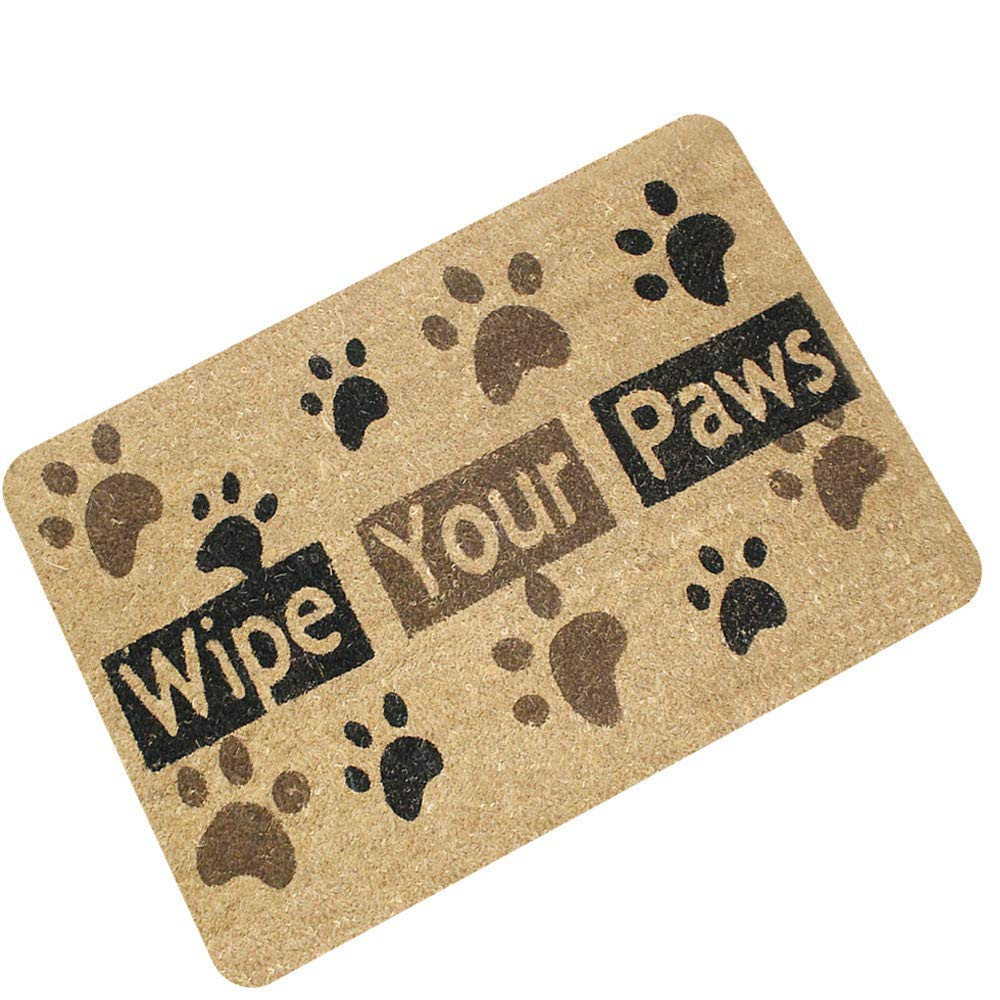 Zee-Hr Rubber Entry Door Mat Water Absorption Bauxite Non-Slip Mat Flocking Felt Pad Beautiful And Durable Easy To Clean Bathroom Kitchen Living Room Bathroom Mat,A,40 60cm