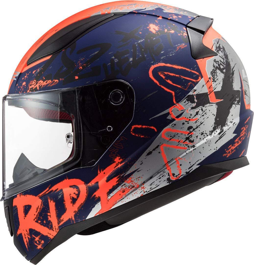 LS2 FF353 Rapid Naughty Casco Bianco//Rosso