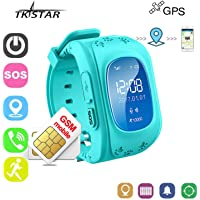 Reloj Inteligente Niños con GPS Smartwatch Niños Llamadas Reloj Deportivo Niño Pulsera de Actividad Inteligente Niños Soporte GPS + LBS de Doble posicionamiento para Evitar quelos niños pierdan(Azul)