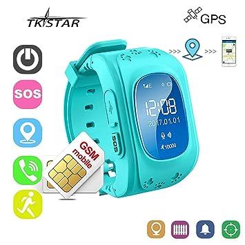 Reloj Inteligente Niños con GPS Smartwatch Niños Llamadas Reloj Deportivo Niño Pulsera de Actividad Inteligente Niños Soporte GPS + LBS de Doble ...