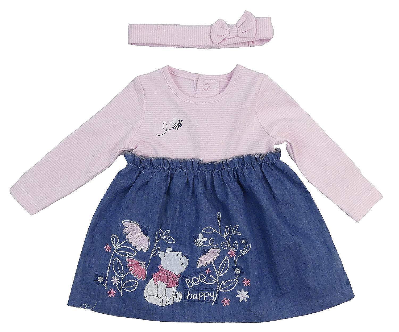 0f62ac3e2f00 Amazon.com  Winnie the Pooh Baby Girls Dress and Headband Set Long Sleeve  Up to 9-12M  Clothing
