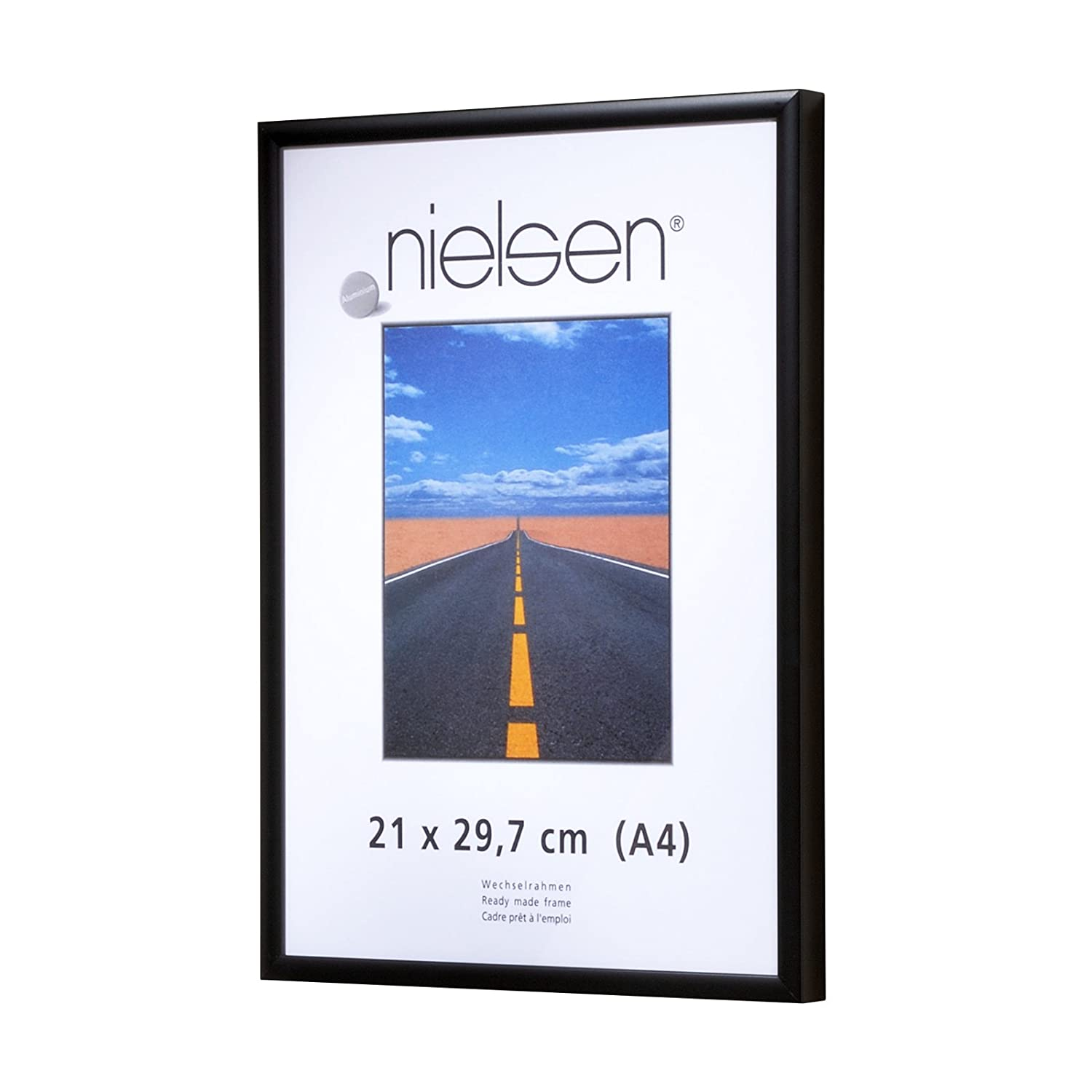 Nielsen Pearl Matt Black Plastic Glass A0/ 84 x 118 cm: Amazon.co.uk ...