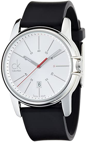 Calvin Klein Select K0A21120 - Reloj de caballero de cuarzo, correa de goma color negro