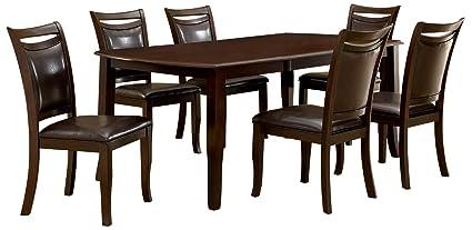 Enjoyable Amazon Com Furniture Of America Carlson 7 Piece Dining Download Free Architecture Designs Rallybritishbridgeorg