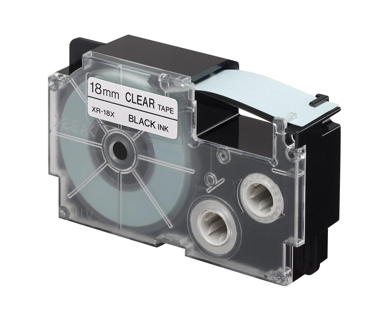 Casio XR-18X1 Nero trasparente nastro per etichettatrice