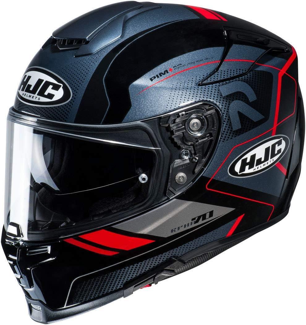 Schwarz//Weiss Motorradhelm HJC RPHA 70 COPTIC MC5 M