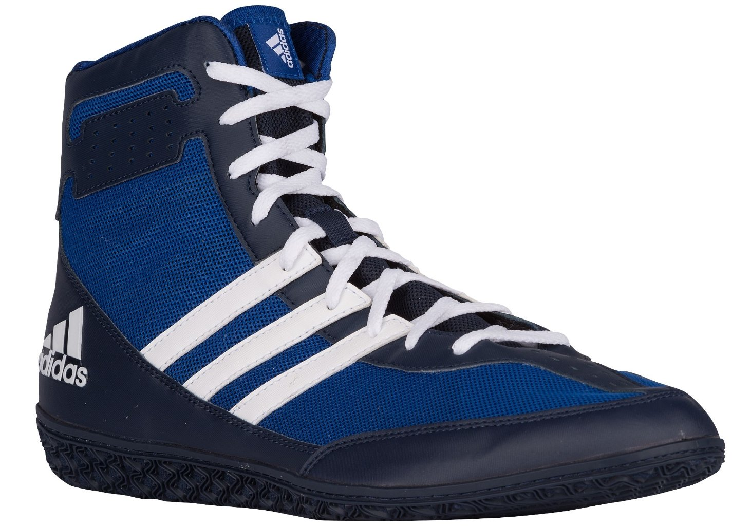 Adidas Performance Men\'s Mat Wizard.3 Wrestling Shoes Royal/White/Navy