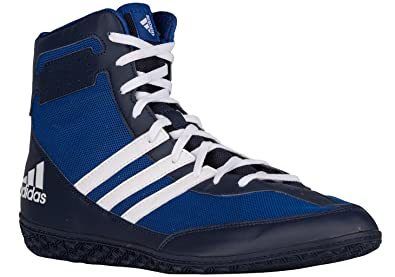 e94e16d89960 adidas Mat Wizard Wrestling Shoes - Royal White Navy - 4
