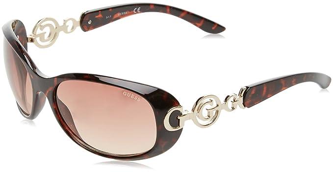 Guess GU7022F Gafas de Sol, (Havana/Marrone), 61 para Mujer ...