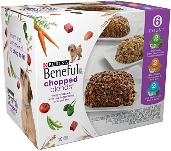 Purina Beneful Chopped Blends Variety Pack Dog Food 6-10 oz. Tub