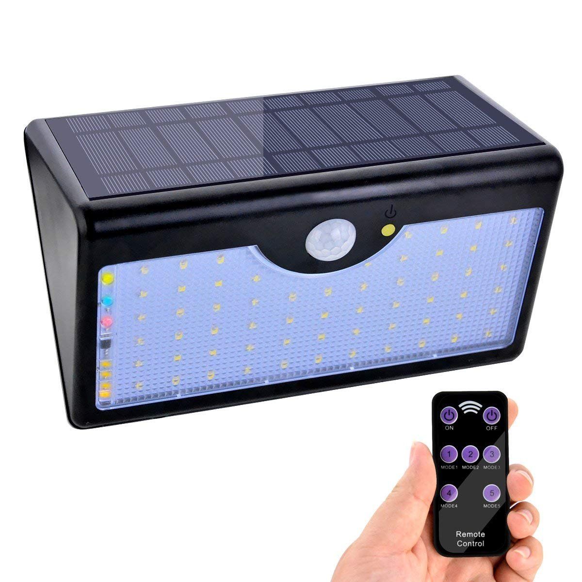Solar Lampe 60 Led Solar Licht 1300 Lm Solar Strahler Mit Drahtloser