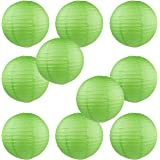 "WYZworks Round Paper Lanterns 10 Pack (Green, 8"") - with 8"", 10"", 12"", 14"", 16"" option"