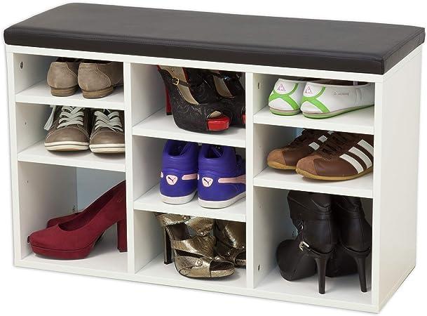 Meuble à chaussures + coussin et vestiaire finition