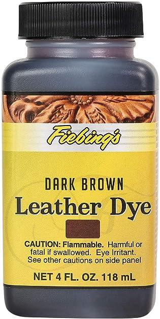 fiebings Leather Tinte 114ml/118ml - Marrón Oscuro, 4 fluid ounce