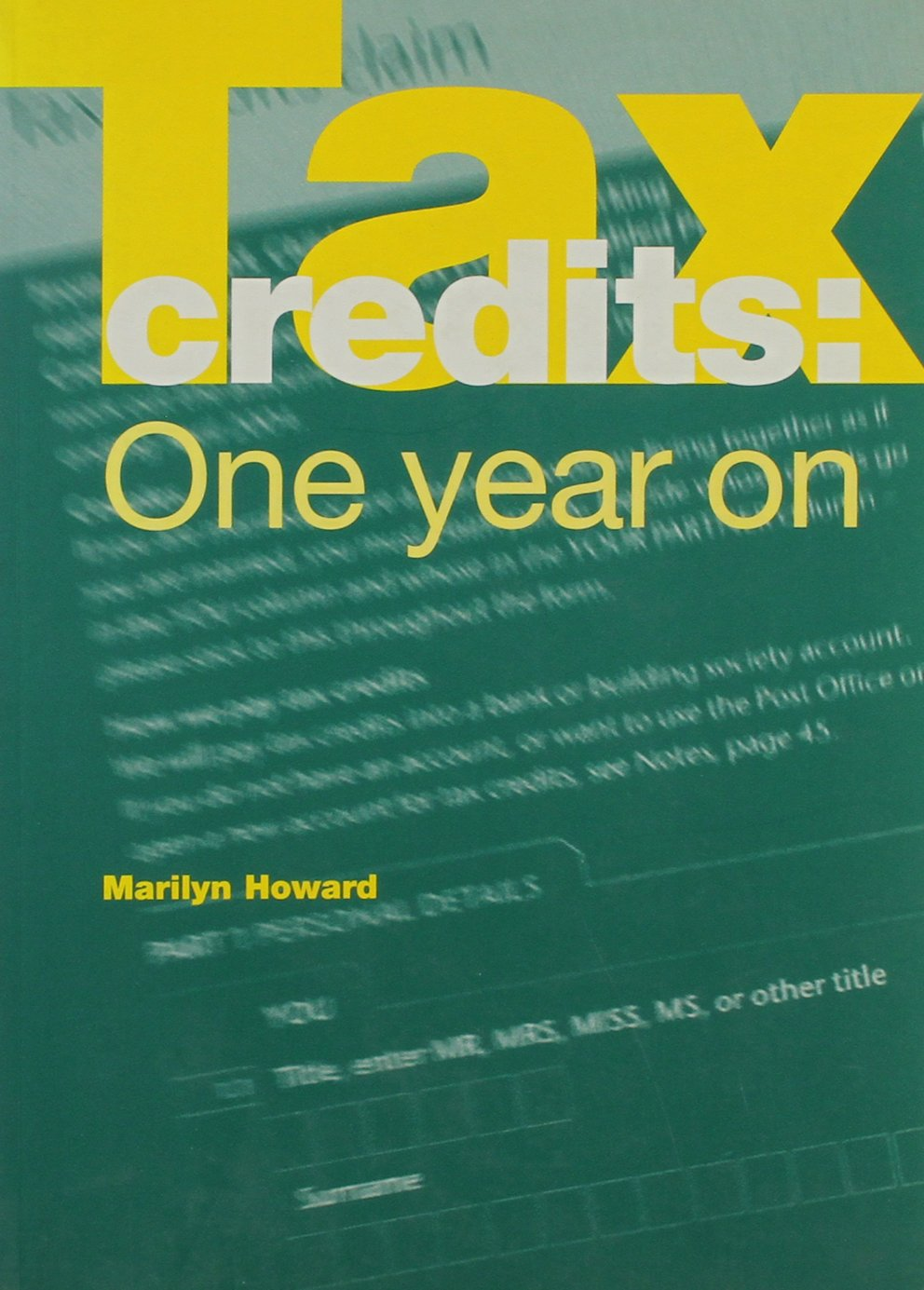 Download Tax Credits One Year on PDF