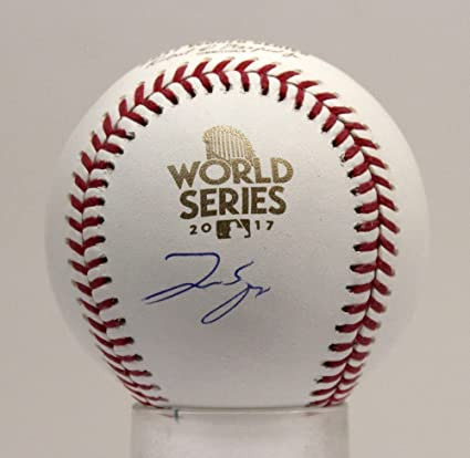 e0e8647caba George Springer Signed Autographed Auto 2017 World Series Baseball Astros  Beckett Bas K68567 at Amazon s Sports Collectibles Store