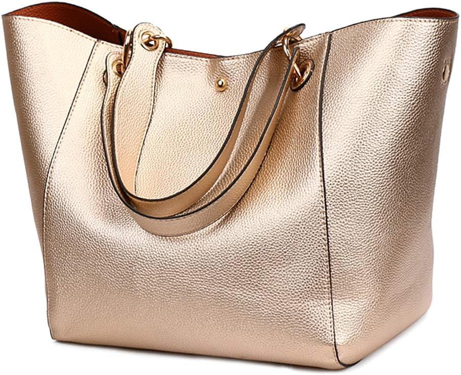 Pahajim moda bolso bandolera mujer grande cuero mujer bolsos tote bolsos impermeables mujer bolso shopper de viaje mujer bolsos para libros bolsos de marca mujer(Rose)