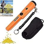 Dinfu Handheld Portable-Metal-Detector-Finder-Pinpointer Wand Waterproof Probe Treasure Detectors with Holster for