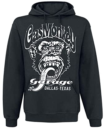 Gas Monkey Garage Dallas Texas Sudadera con Capucha Negro: Amazon.es: Ropa y accesorios