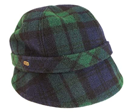 0c1c10717c46f Mucros Ladies Irish Hat Flapper Style Blackwatch 100% Wool Made in Ireland
