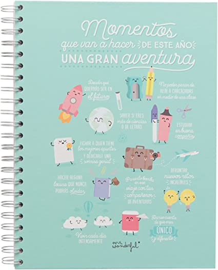 Mr. Wonderful WOA03716ES - Libreta grande, diseño Momentos que van ...
