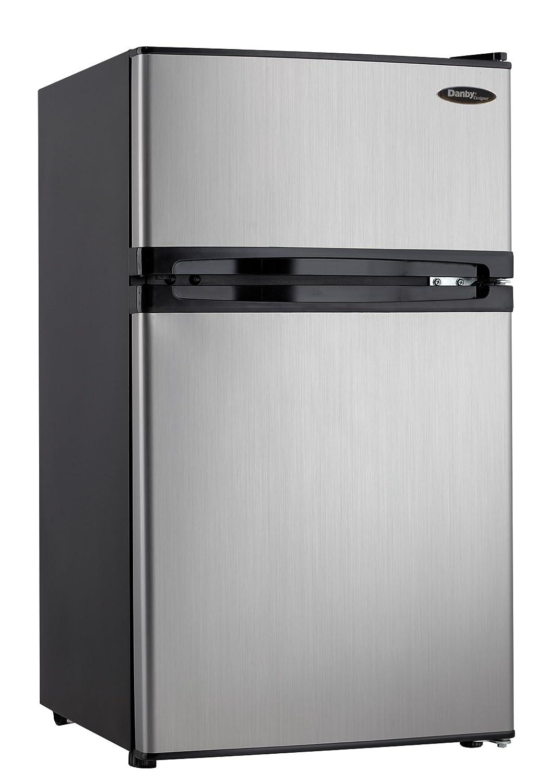 Amazon.com: Danby DCR031B1BSLDD 3.1 Cu. Ft. 2 Door Compact Refrigerator,  Steel: Appliances