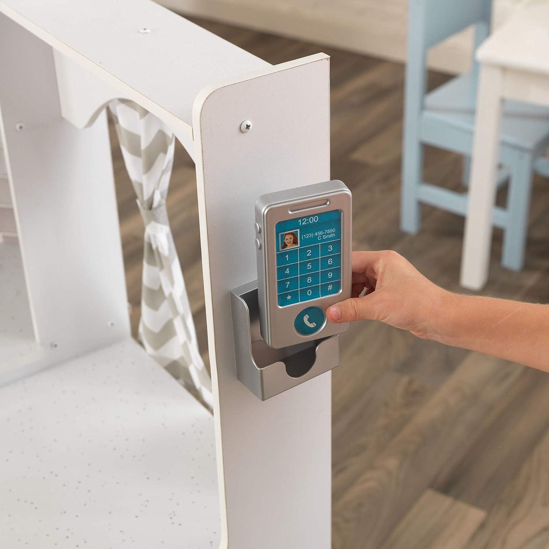 Kidkraft Wooden Kids Ultimate Corner Kitchen With Light And Sound White Amazon De Spielzeug