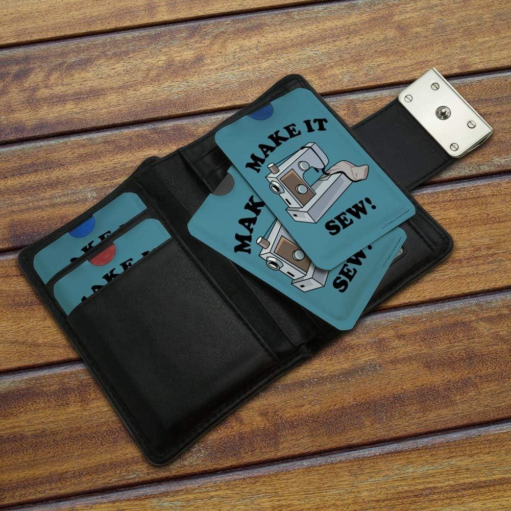 Make It Sew So Sewing Funny Humor Credit Card RFID Blocker Holder Protector Wallet Purse Sleeves Set of 4