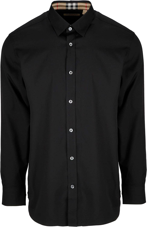 BURBERRY Luxury Fashion Hombre 8003074 Negro Camisa | Temporada Permanente: Amazon.es: Ropa y accesorios
