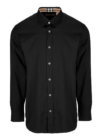 07cea443236 BURBERRY Homme 8003074 Noir Coton Chemise  Amazon.fr  Vêtements et ...