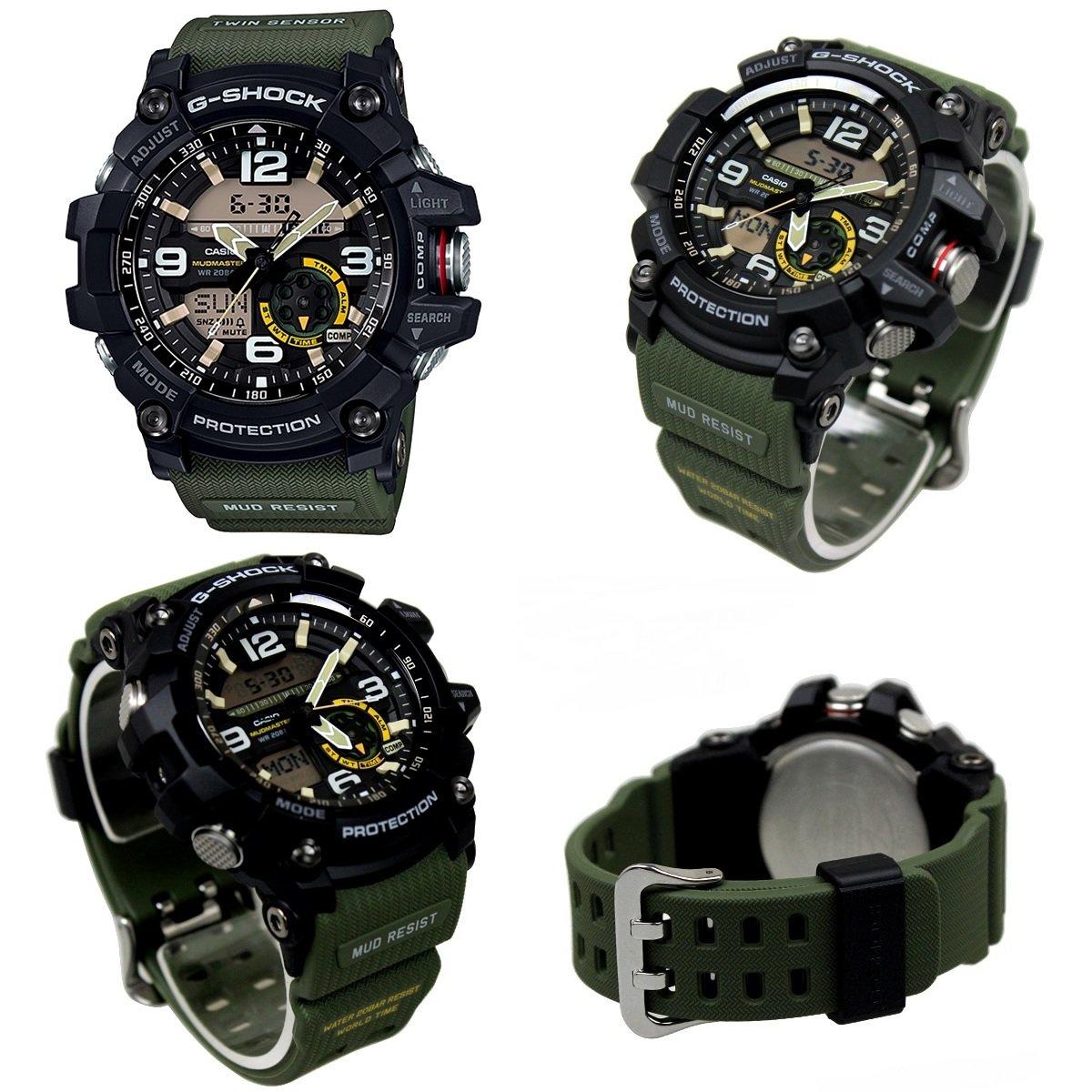 G-SHOCK Mudmaster 20気圧防水 アナデジ プラベルトウォッチ メンズ向 (GG-1000-1AJF GG-1000-1A3JF GG-1000GB-1AJF GG-1000RG-1AJF) (GG-1000-1AJF(ブラック/ブラック)) B073ZZWFK3  GG-1000-1A3JF(ブラック/カーキー)
