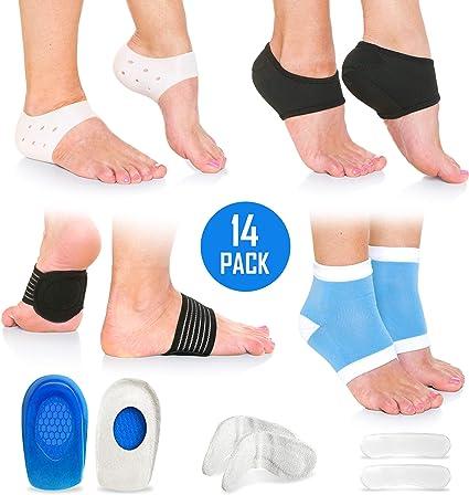 Coussinets de soulagement Body-Tec en gel pour le maintien du talon contre la douleur de la vo/ûte plantaire