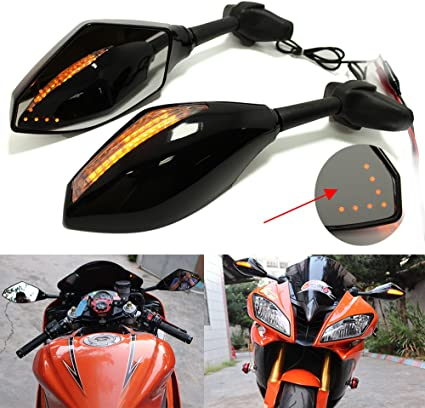 LED Turn Signal Indicator Lights Motorcycle Rearview Mirrors For Honda CB500F