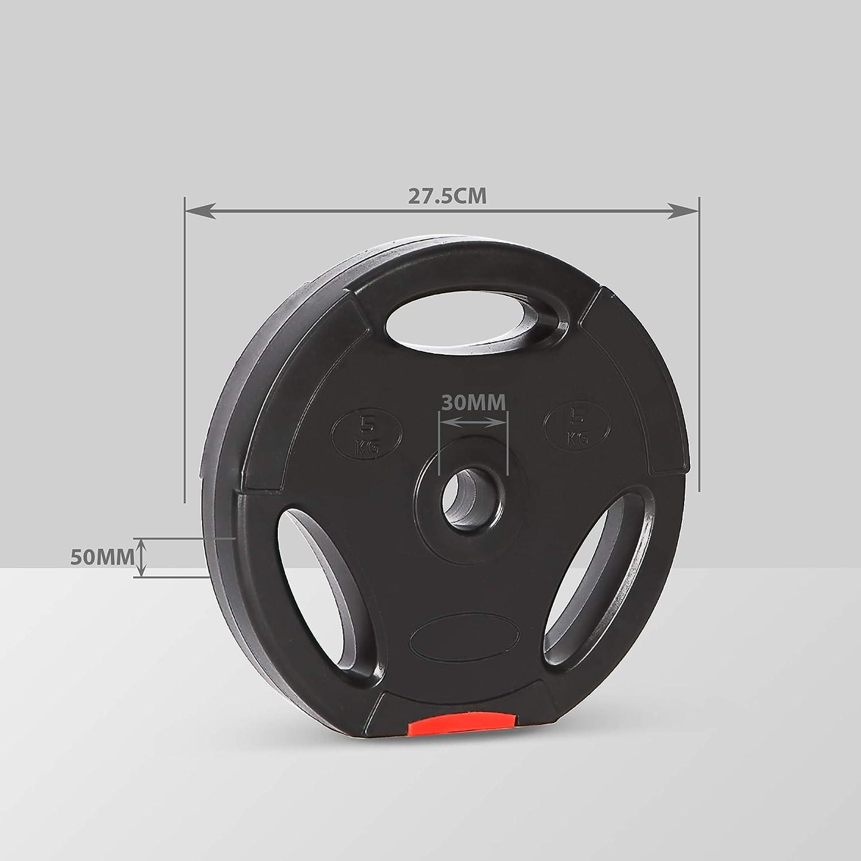Ultrasport - Juego de 4 Pesas de 15 kg o 25 kg, Orificio estándar de 30 mm, utilizable con Mancuernas y Barras largas, con intervenciones para ...