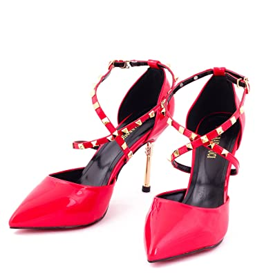 aae873321 Dech Barrouci Studded Powder High Comfortable Fit Heels Ladies Sandals  Girls Party Wear Classy Attractive Elegant Look Hot Sandals Heels for Women  and Girls