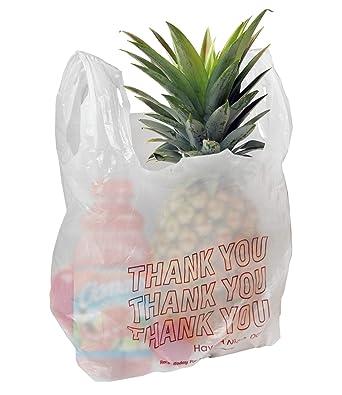Amazon.com: Bolsas de plástico bolsas de playera gracias 10 ...