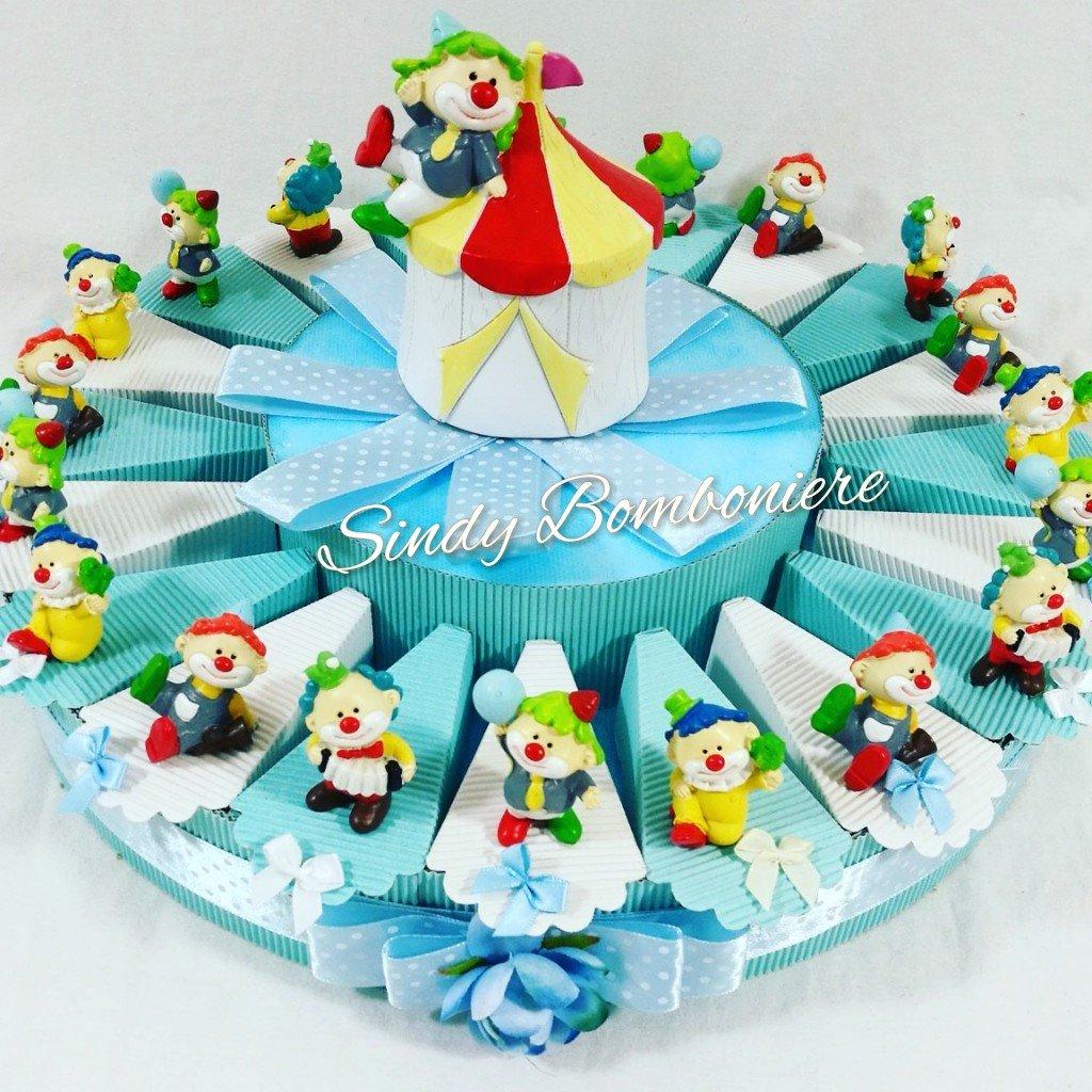 Tarta BOMBONIERA Original Payaso payaso circo nacimiento bautizo bebé primer cumpleaños assortito